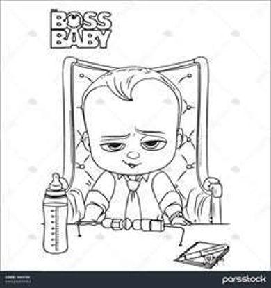 تصویر از BossBaby2 - تصویر رنگ آمیزی بچه رئیس