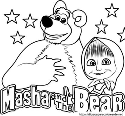 تصویر از Masha17 - تصویر رنگ آمیزی ماشا و میشا