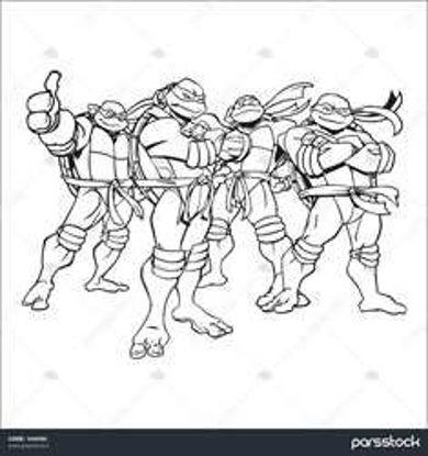 تصویر از Ninja1 - تصویر رنگ آمیزی لاک پشت های نینجا