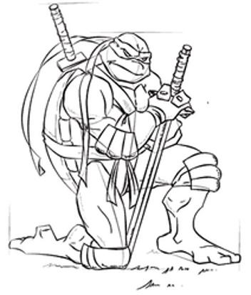 تصویر از Ninja9 - تصویر رنگ آمیزی لاک پشت های نینجا