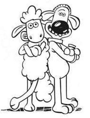 تصویر از Sheep2 - تصویر رنگ آمیزی بره ناقلا
