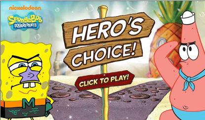 تصویر از انتخاب قهرمان - بازی آنلاین باب اسفنجی